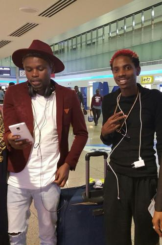 Chipukeezy and Eric Omondi in Dubai courtesy of Value Connect & Kenya Airways
