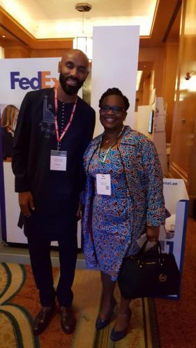 Mercy Achola with Federic Kanoute - African Footballer of the Year 2007