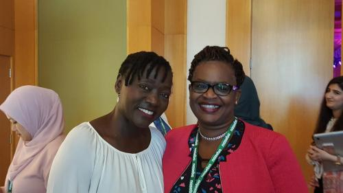 Mercy Achola with Dr. Auma Obama - founder Sauti Kuu Foundation